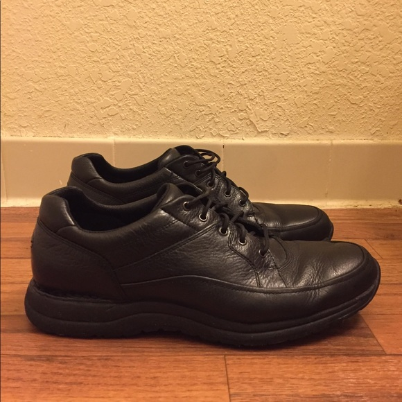 1e70647f789537 Rockport Shoes | Vibram Leather Black Casual Walking | Poshmark